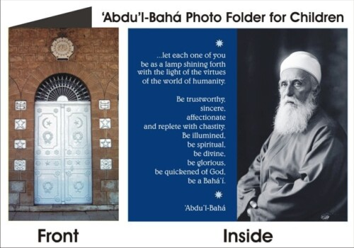 10 Abdu'l-Baha Photograph Folding Cards