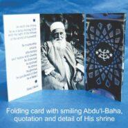 10 Abdu'l-Baha Photograph Folding Cards