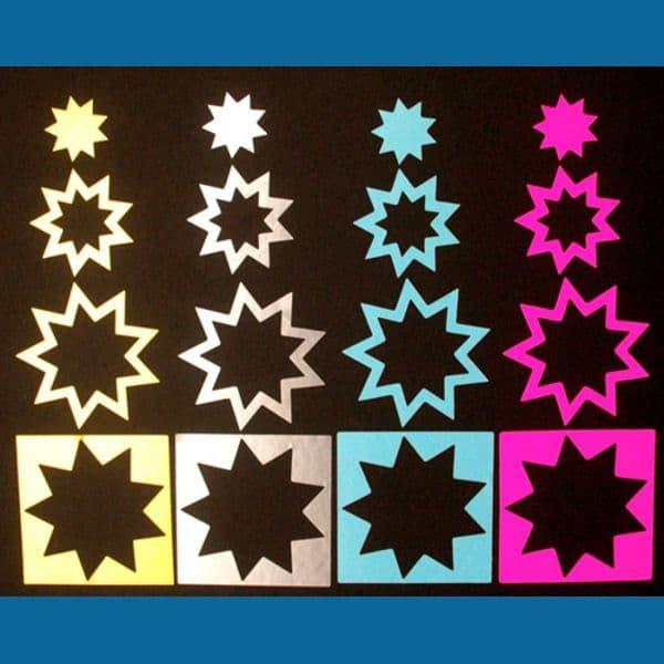 Die-Cut Star Stickers