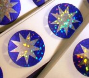 Sparkle 9-pointed Star Craft Stickers