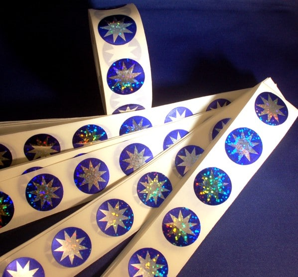 Sparkle 9-pointed Star Craft Stickers