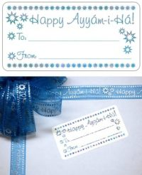 Happy Ayyam-i-Ha Gift Tag Sticker