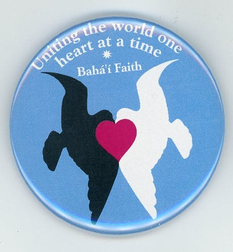 United Doves Bahai Button