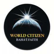 Bahai World Citizen Black Button