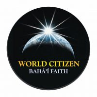 Bahai World Citizen Black Button