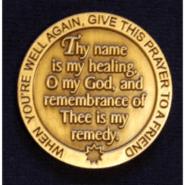 Deluxe Metal Healing Prayer Coins