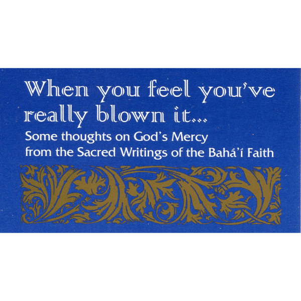When you have blown it – prayer card