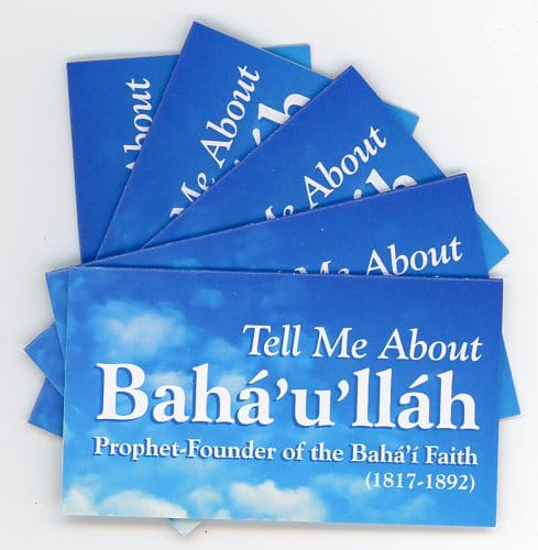 Tell Me About Baha'u'llah -Teaching Cards