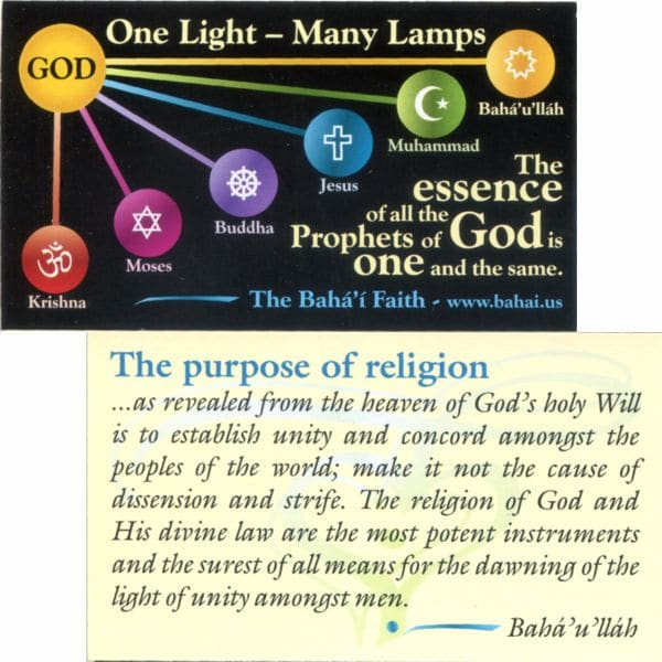 One Light Many Lamps-Teaching Cards