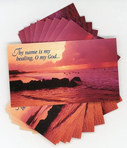 Healing Prayer teaching card