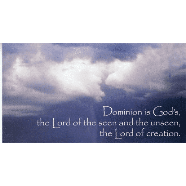 Dominion is God's -Teaching Cards