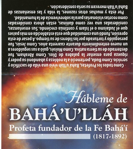 Tell Me About Baha'u'llah – Spanish Teaching Cards