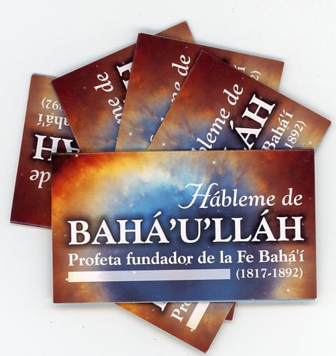 Tell Me About Baha'u'llah – Spanish Teaching Cards