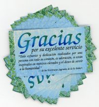 SPANISH Gracias por servicio (Thank You) – Teaching Cards
