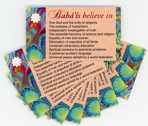 Bahais Believe in -Teaching Cards