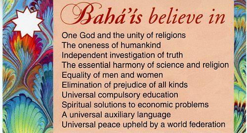 Bahais Believe in -Teaching Cards