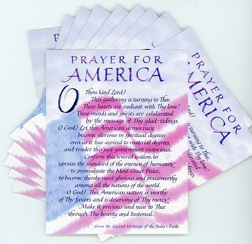 Prayer for America Postcard