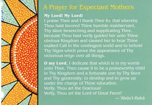 Prayer for Expectant Mothers Postcard