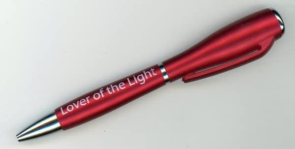 Lover of the Light – Pen Flashlight