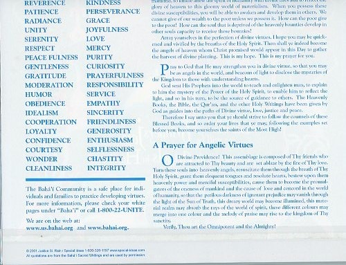 Virtues Angel Poster Pamphlet