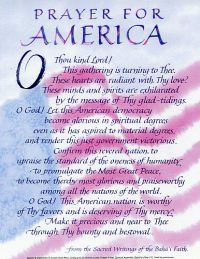 Prayer for America Poster w/ Race Unity Pamphlet on back
