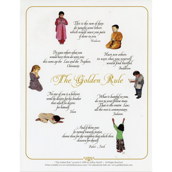 Classic Golden Rule Poster Pamphlet