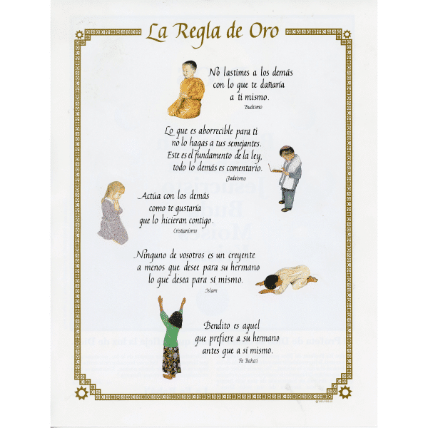 Spanish Golden Rule Poster Pamphlet