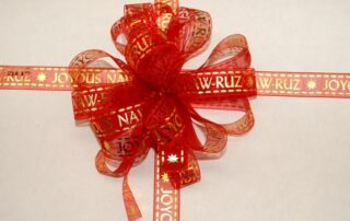 Red Naw Ruz Ribbon
