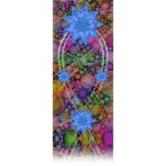 Long Blue 9-Pointed Star Kimono Silk Scarf