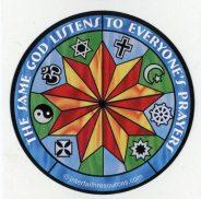 The Same God Listens to Everyone's Prayers Stickers