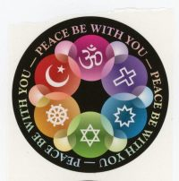 Interfaith Peace be with you Stickers