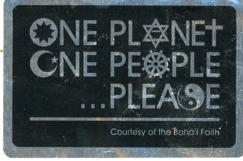 One Planet One People Stickers
