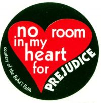 New 2″ No Room in My Heart for Prejudice Stickers
