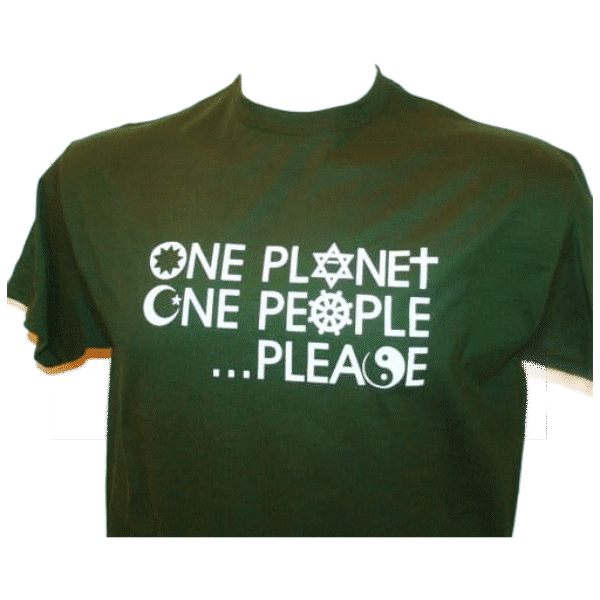 One Planet, One People . . . Please T-shirt