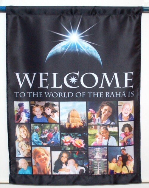 Satin Welcome Flag