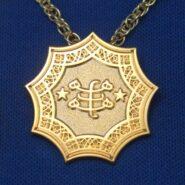 Gold Plated Ringstone Symbol Pendant