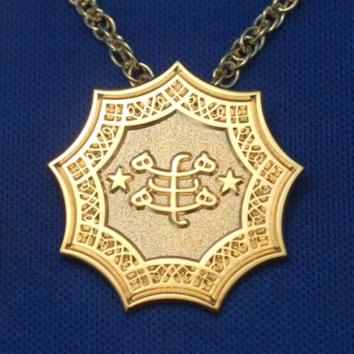 Gold Plated Ringstone Symbol Pendant