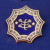 Gold Plated Royal Blue Ringstone Symbol Pendant