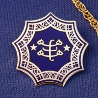 Blue & Silver Plated Ringstone Symbol Pendant