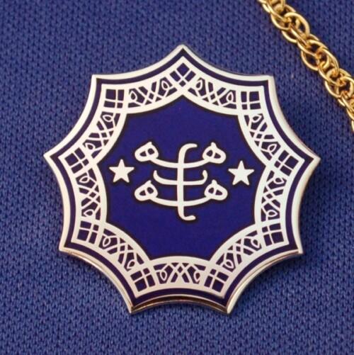 Blue & Silver Plated Ringstone Symbol Pendant