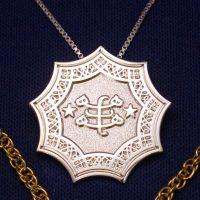 Silver Plated Ringstone Symbol Pendant