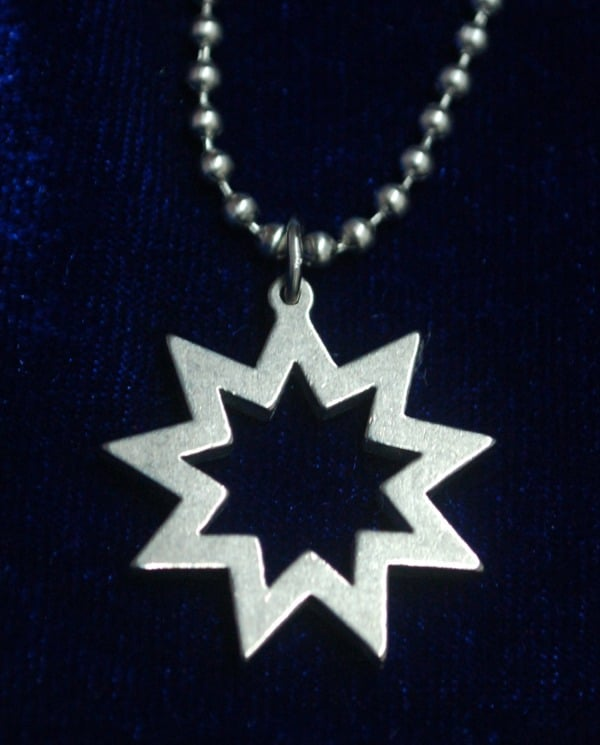 Steel Star Pendant with chain