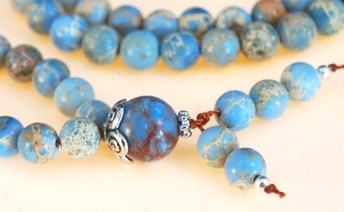 Light Blue Magnesite Bahai Prayer Beads