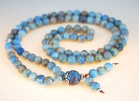 Light Blue Magnesite Bahai Prayer Beads