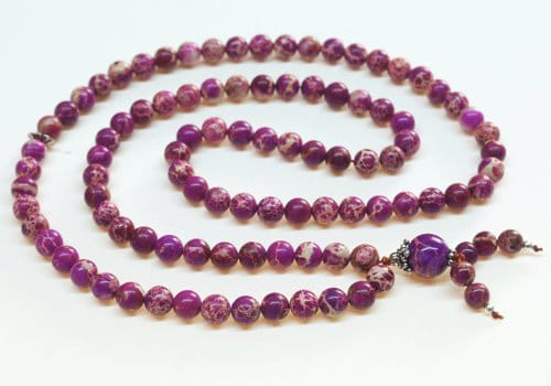 Purple Magnesite Bahai Prayer Beads