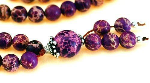 Purple Magnesite Bahai Prayer Beads
