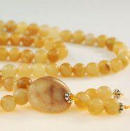 Yellow Jade Bahai Prayer Beads