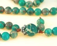 Turquoise Green Magnesite Bahai Prayer Beads