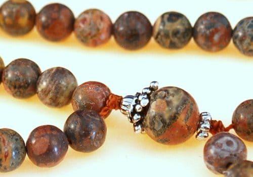 Leopardskin Jasper Bahai Prayer Beads