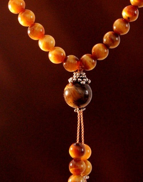 Tiger's Eye Bahai Prayer Beads
